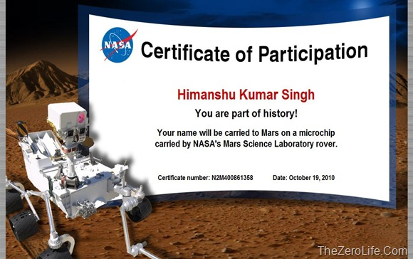 Himanshu_Kumar_Singh_Name_On_Mars_NASA