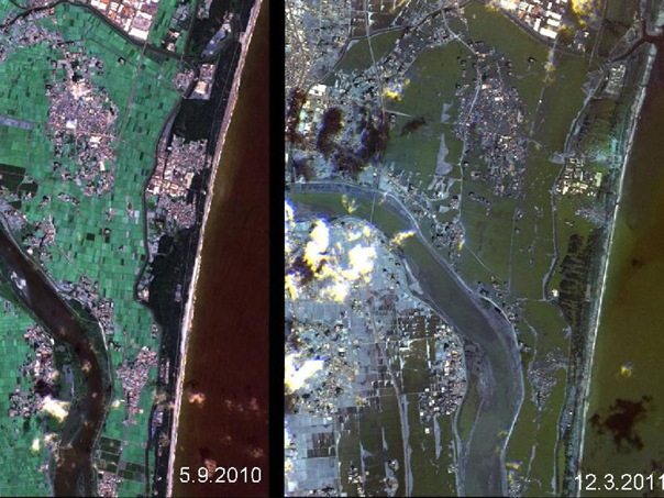 japan tsunami 2011 before and after. efore and after tsunami.
