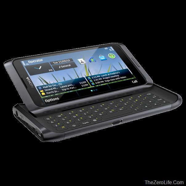 Nokia_e7_dark_grey_Black_front_l_slide_image_(TheZeroLife.Com)