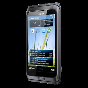Nokia_e7_dark_grey_Black_front_right_image_(TheZeroLife.Com)