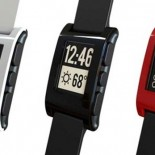 Pebble Smart wrist watch in three colors red, white, black, a gadget for men