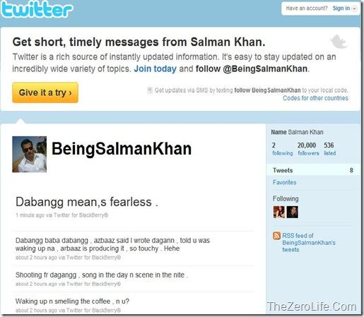 Salman Khan On Twitter